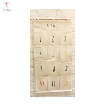 2016 promotional gift items storage bag Linen Wall Hanging Jewelry Organizer